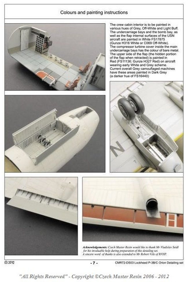 "Czech Master Resin 1/72 Lockheed P-3B/C Orion ""Interior ..."